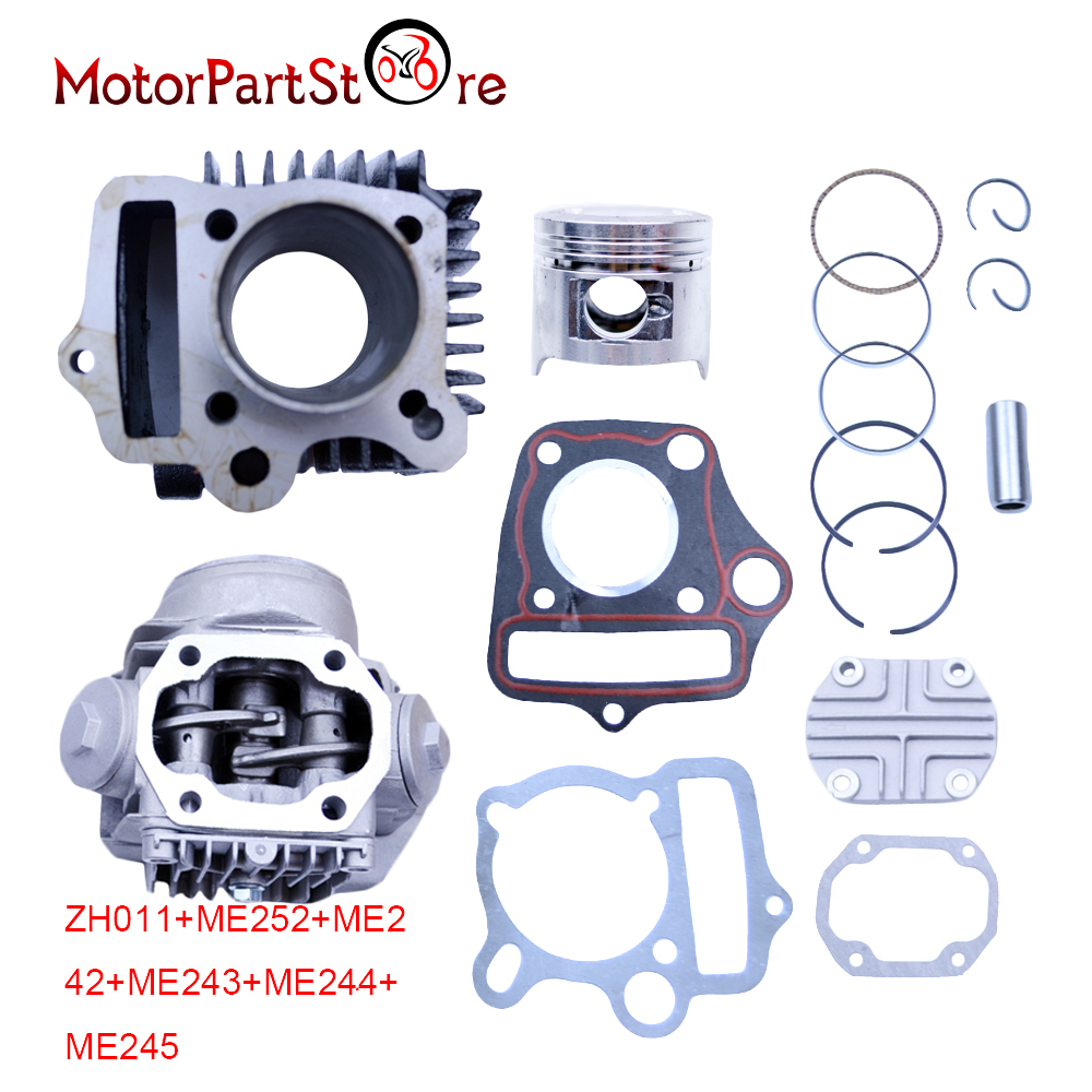 47mm Cylinder Head Piston Rings Gaskets Kit for Honda C90 Trail 90 Scooter Moped 90cc 86CM3 ...