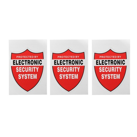 NEW 3 Pcs SECURITY SYSTEM DECALS Sticker Decal Video Warning CCTV Camera Home Alarm Security Lahore