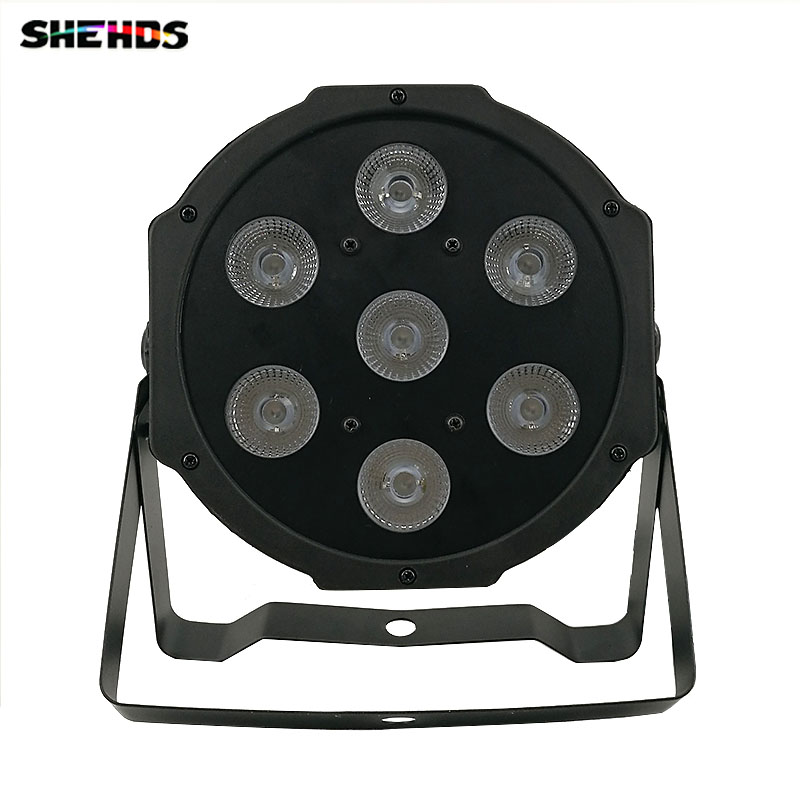 2018 LED Flat Par 7x3W Ultraviole Color Stage Lighting Business Lights High Power Professional for Party KTV Disco DJ Show