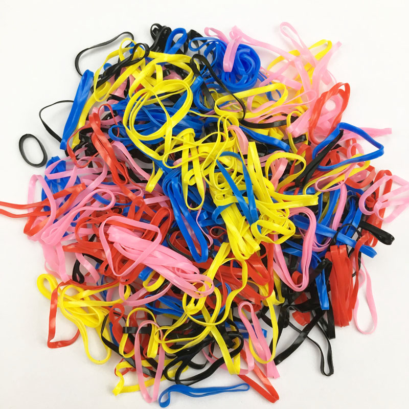 Disposable Pet Grooming Hair Band 6 Types Dog Cat Hair Accessories Perimeter About 2.2 inch 300 pieces/package Pet Rubber Band
