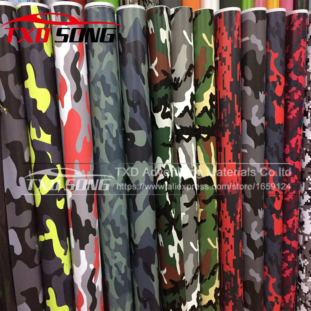 Premium quality Large Digital Woodland Green Camouflage Vinyl Film Sticker Wrap Decal Army Camouflage vinyl BY Free Shipping caterham 7 csr