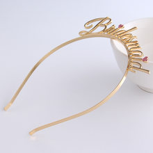 Fashion Headband Wedding Bride Bridesmaid Crown Festival Party Cute Crown Hair Jewelry Ladies Jewelry Wedding Favor Personalized(China)