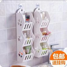 Multi-layer Wall Shelf Bathroom Accessories Wood Storage Rack