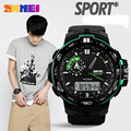 Male Mens Watch Outdoor WaterproOf Hiking Sports Table Multifunctional Led Luminous Electronic Wristwatch Gift