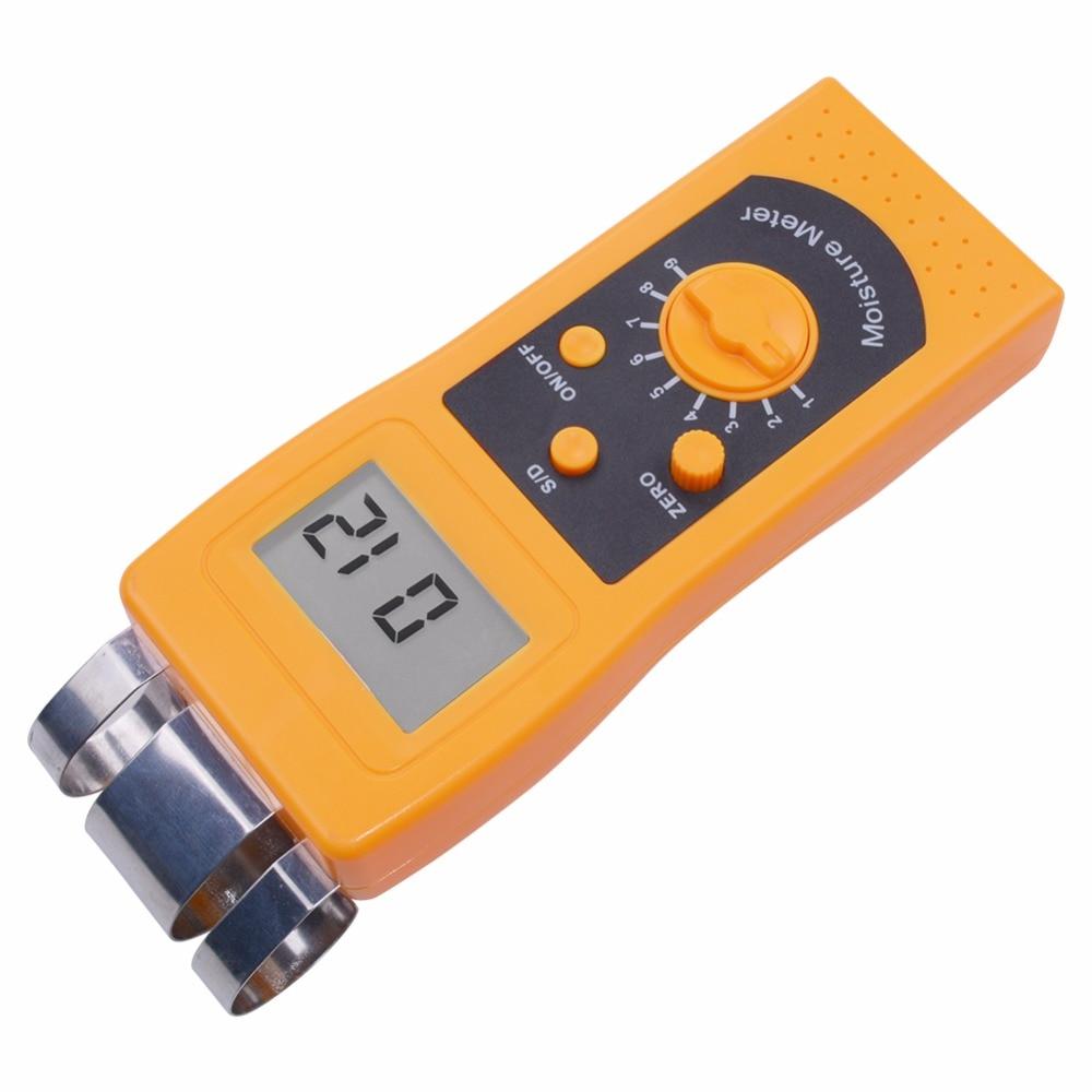 Higr/ómetro Digital Medidor de Humedad Medidor de Humedad del Muro de hormig/ón Monitor de Humedad