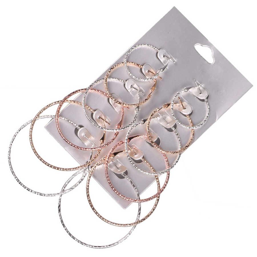 XINYAO Moda Moda Big Hoop Brincos 6 Tamanhos Partido Jóias Acessórios para As Mulheres OL Presente do Dia Das Mães