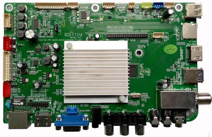 Android quad-core + DTMB domestic digital TV LCD driver board Quad-core android TV motherboard автомобильные телевизоры dtmb