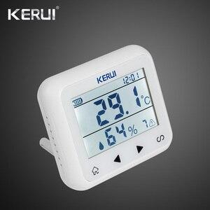 Image 1 - Kerui 433mhz atualizado sem fio display led de temperatura ajustável alarme detector sensor proteção para casa sistema alarme