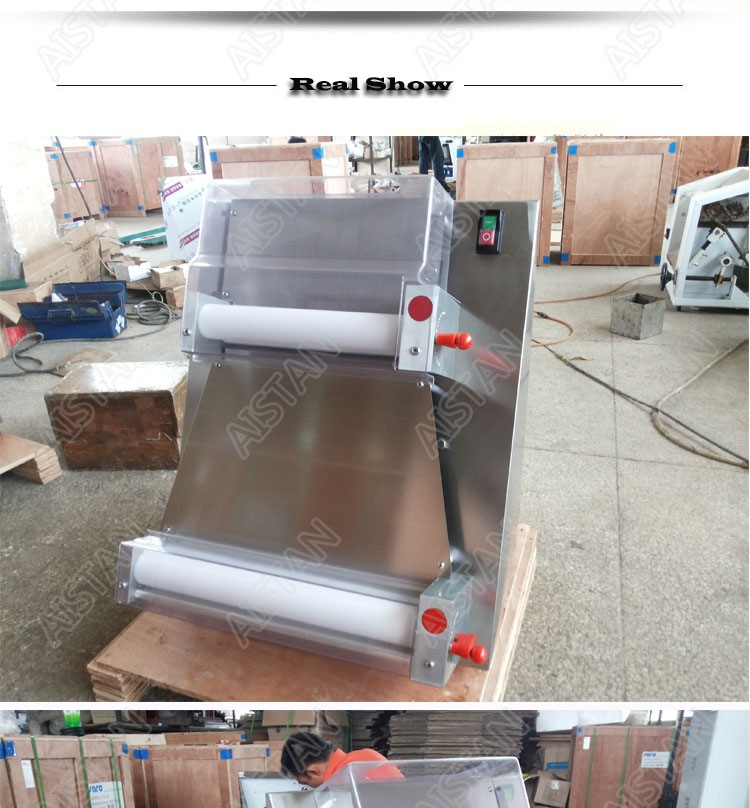 DR1V/DR1V-FP electric counter top stainless steel pizza dough roller machine pizza making machine dough sheeter 16