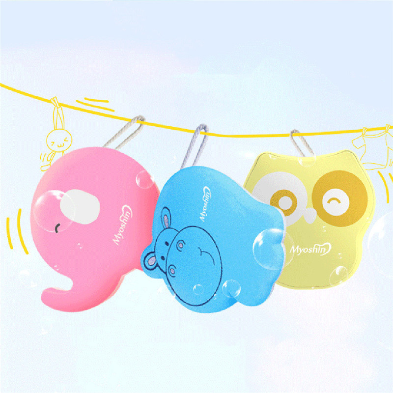 Cute Cartoon anmimal Soft Baby Hair Brush Wash Towel Sponge Rub Bath Towel Random color