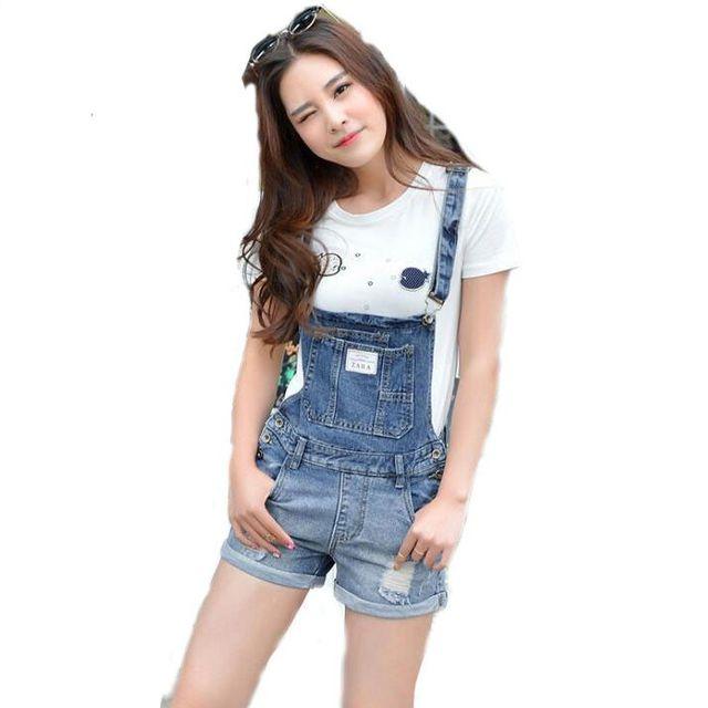 #1406 2017 Mulheres Playsuits macacões Combinaison curto femme Moda Curto macacão shorts Jeans macacão macacão Jeans mulheres