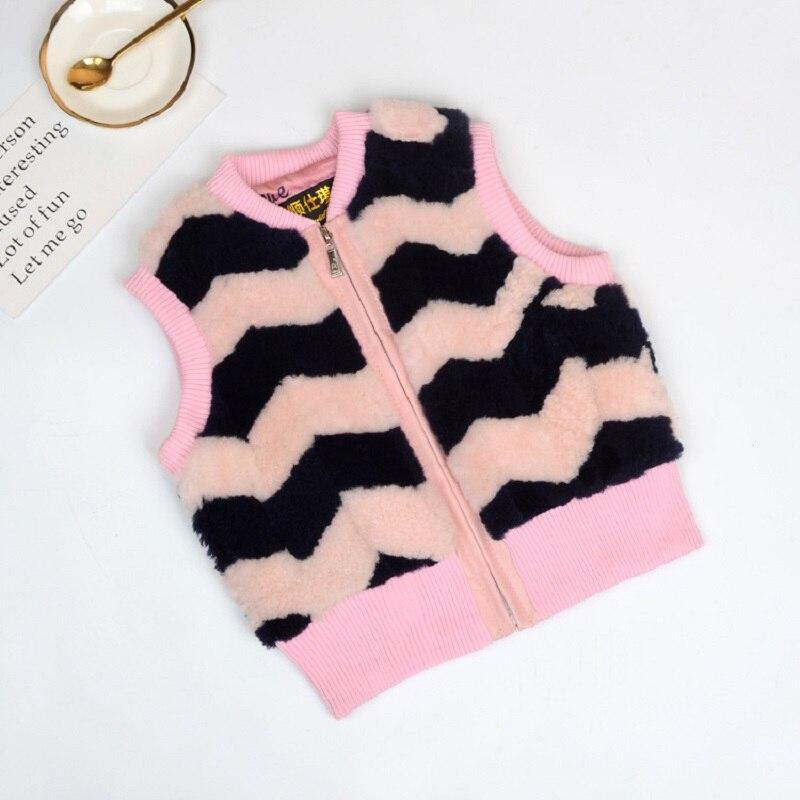 JKP 2018 new autumn and winter girls and boys sheep fur warm stitching vest thick stitching fur fashion coat vest ZPC-60