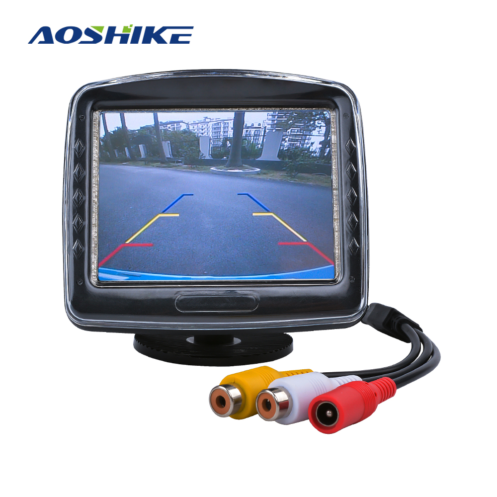 AOSHIKE 3.5 Screens For Car With Vehicle Camera Parking 12V Car Monitor For Rear View Camera TFT LCD Display Universal 480*248