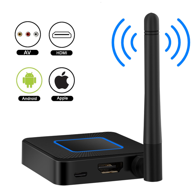 1080P AV Wireless HDMI Mirroring Adapter Dongle Screen AirPlay chromecast Miracast tv stick Display Linux 2.4G 5.8G Mirascreen