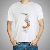 Human Body Painted Hippocampus T Shirt Abstract Paintings Photo Men T Shirt Brand Clothing Body Building
