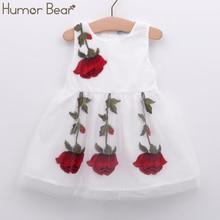 Humor Bear NEW Baby Girl Dress Birthday Dress lace infant Roses Infantil Bowknot Princess Wedding Dress Baby Girls Clothes