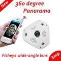 FishEye VRCAM 3MP 1080 P 360 Graus Da Câmera Panorâmica IP Night Vision P2P 2-way voz Câmera de Segurança Sem Fio wi-fi