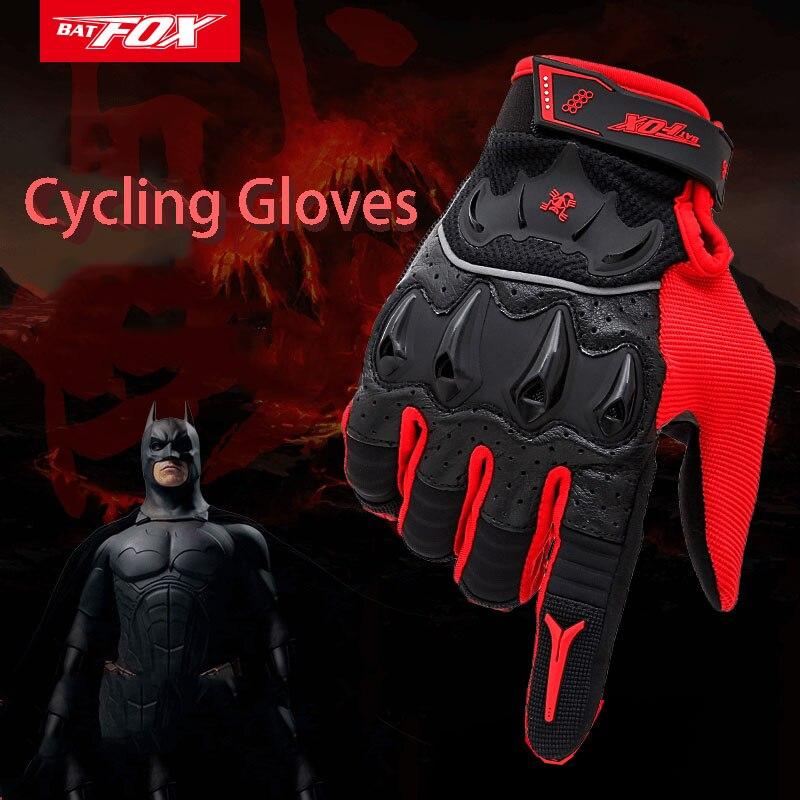 BATFOX Cycling Gloves Winter Warm Breathabe Bike Gloves Outdoor Sport Shockproof MTB Road Men Women Full Finger Bicycle Gloves