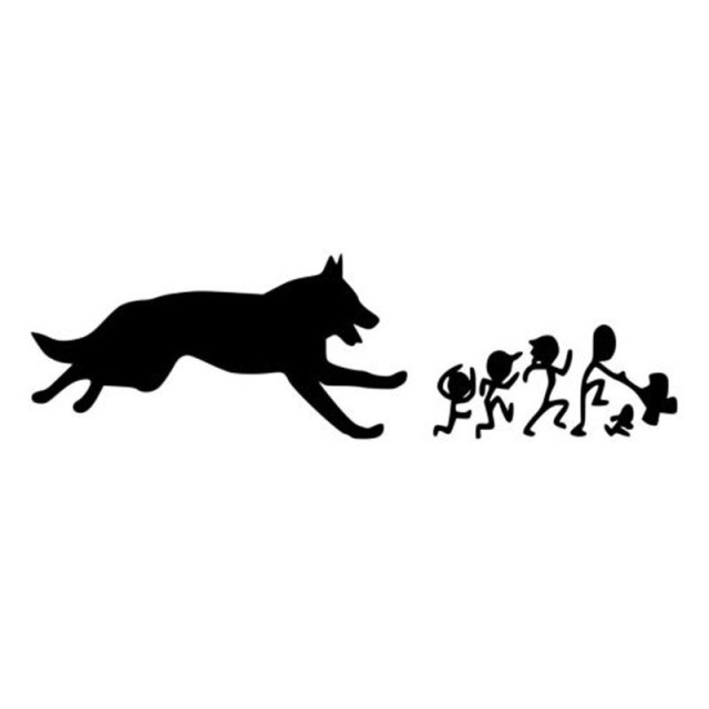 17.8*5CM German Shepherd Family Car Stickers Creative Vinyl Decal Car Styling Bumper Accessories Black/Silver S1-0861