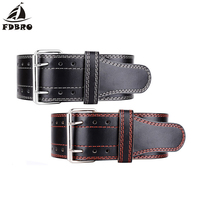 FDBRO For Men Women Weightlifting Equipment Leather Weight lifting Belt Gym Training Fitness Waist Back Support Squat Power