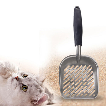 Cat litter scoop Aluminum Rubber Shovel