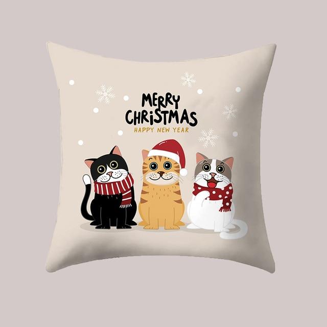 Cute cat Decorazione Di Natale Commercio All'ingrosso Coperture per Cuscini 45*4
