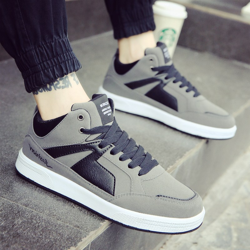 Whoholl 2018 Men Shoes Sapatos Tenis Masculino Male Autumn Winter Front Lace-Up Canvas Shoes Man Casual High Top Canvas Men