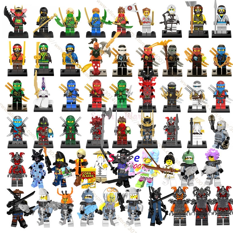 50pcs Ninja Masters of Spinjitzu Movie KAI JAY COLE ZANE Lloyd Wu NYA Ronin GARMADON bui ...