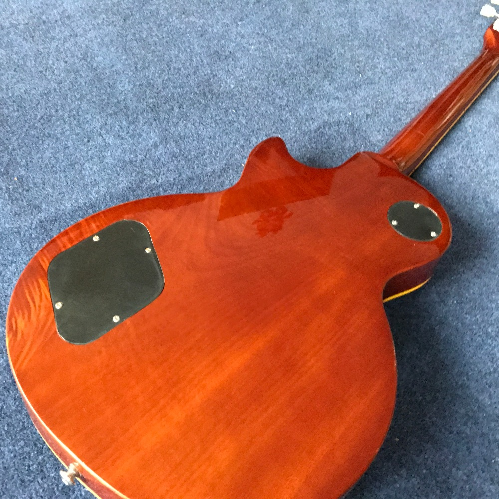 Hot lp guitar Custom shop 1959 R9 les Tiger striped maple cover Standard electric guitar Free shipping in stock