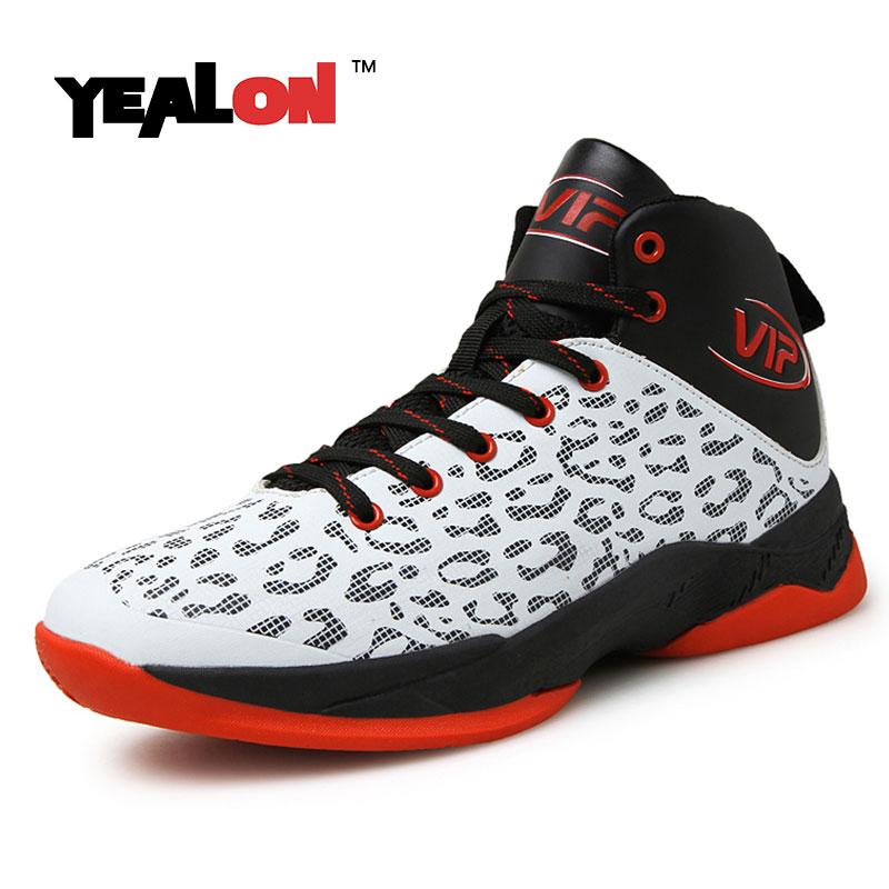 YEALON Basketball Shoes Men Basket Homme Basse Hombre Basket Homme Men'S High Ankle Sneakers Basketball Boots 2016