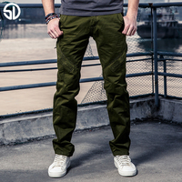 2017 Spring High Quality Men S Cargo Joggers Pants Military For Men Loose Pants Casual Straight