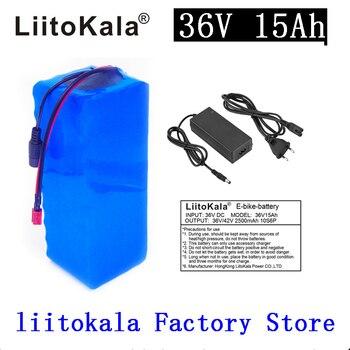 LiitoKala 36v 15ah 36V 500W battery  electric bike battery 36V 15AH Lithium battery 36v battery with 15A BMS +42V 2A charger