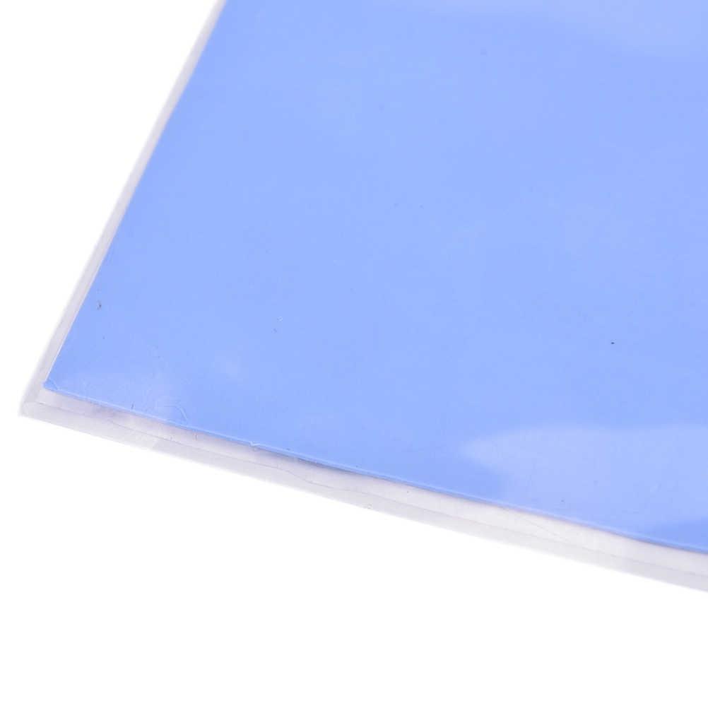 Azul 100mm x 100mm x 0,5mm GPU CPU disipador térmico de refrigeración almohadilla de silicona conductora térmica