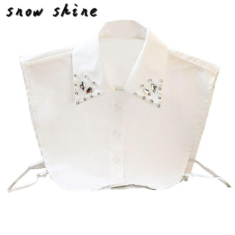 snowshine YLI Fashion Women Handwork Diamond Vintage Fake Shirt Collar Necklace Choker Collar free shipping