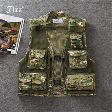 Outdoor Camouflage Fly Fishing Vest Life Jacket Quick Dry Mesh M L XL XXL XXXL Photography Tackle