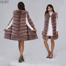 2019 New Women's Winter Real Fox Fur Vest Real Fox Fur Jacket High quality Fashion Warm Sleeveless Zipper Natural Real Fur Coat(China)