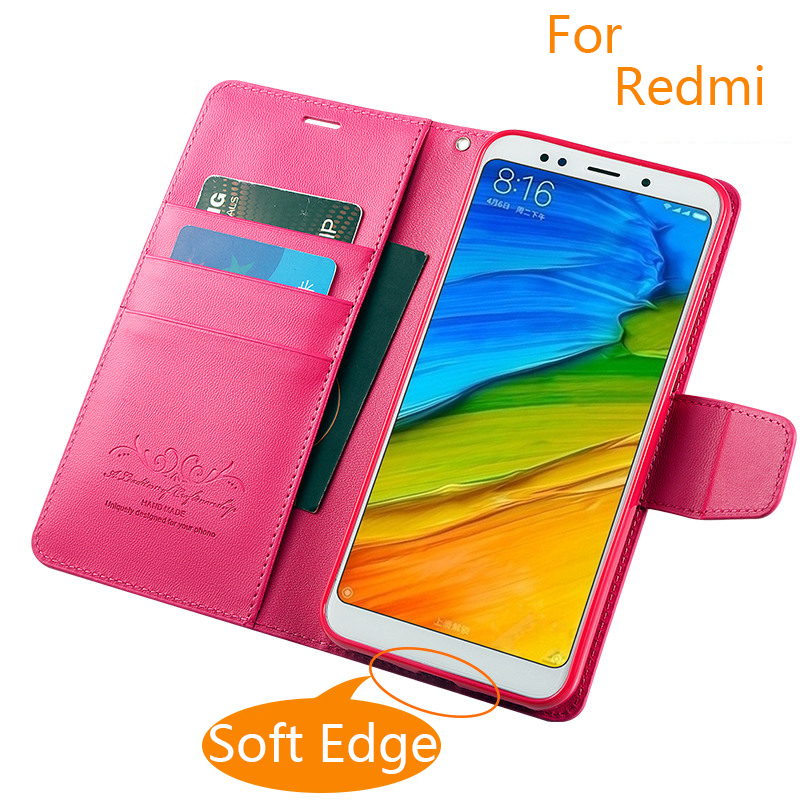 Colorful Hand Made For Xiaomi Redmi note 5 4x 5a redmi 3s 4 pro 4a 5a Leather Case For Redmi 5 Plus Fashion PU Flip Cover
