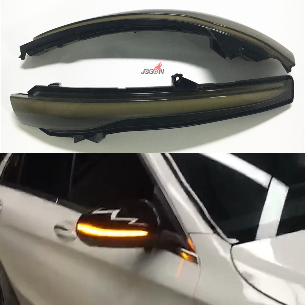 Car LED Dynamic Blinker Indicator Repeater Rearview Mirror Light For Benz C GLC E S Class W205 X253 W213 emblem