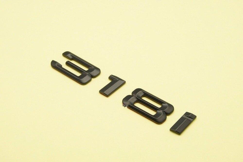 Black Matte 318i Trunk Emblem Badge Letters For BMW 3-Series Model