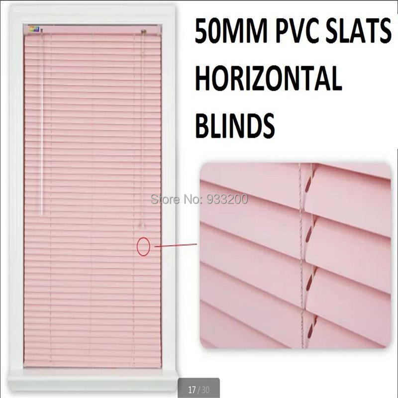 25mm Pvc Horizontal Blinds Fit Window Size 100cm X 100cm Slat 0 4mm Thickness 1piece Lot Free Shipping