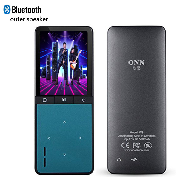ONN W8 Bluetooth MP4 Player 8GB Speaker Sport With Pedometer picture Video Player fm APE Flac Music Player Hifi man Music player