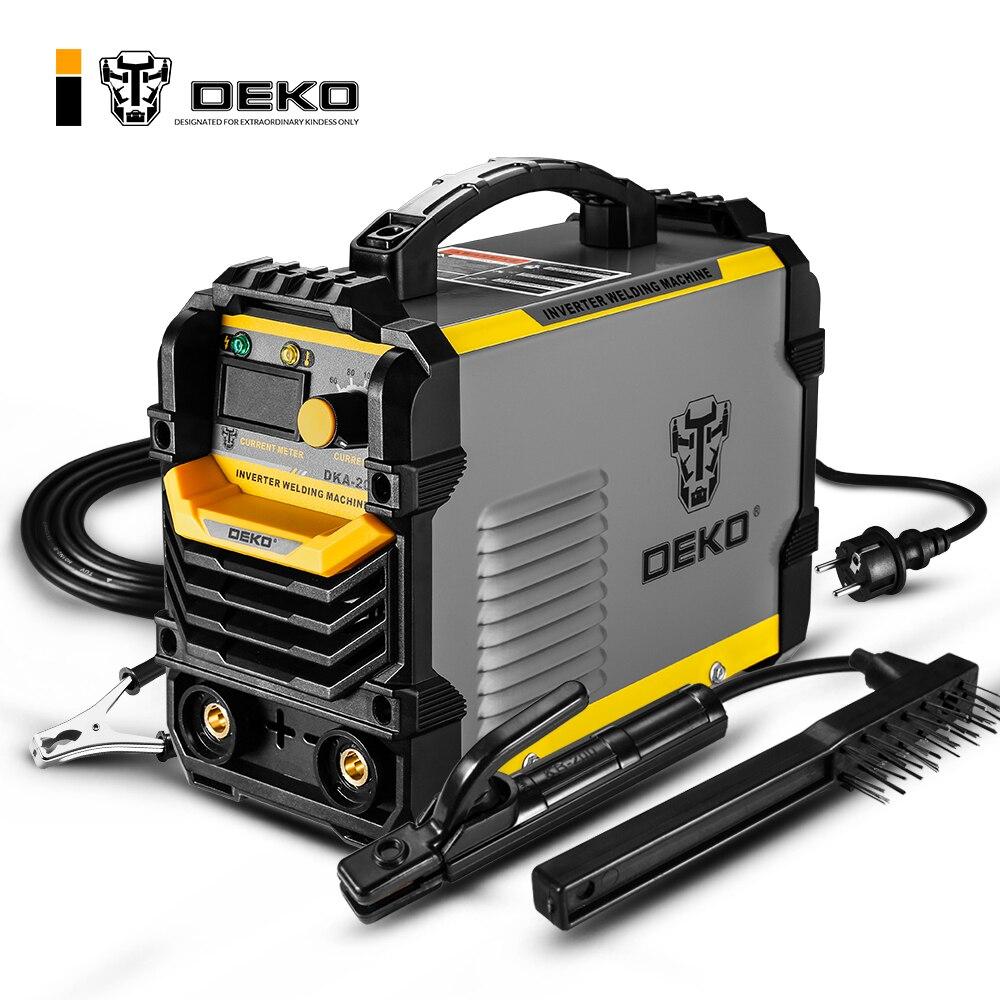 DEKO DKA-200Y 200A 4.1KVA onduleur Machine de soudage électrique à l'arc 220 V MMA soudeur pour le travail de soudage bricolage et le travail électrique