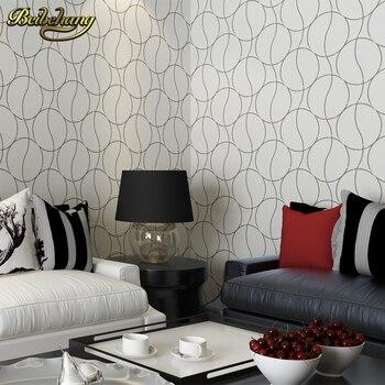 beibehang papel de parede para quarto modern circle background wallpaper bedroom wall room TV bedside non woven