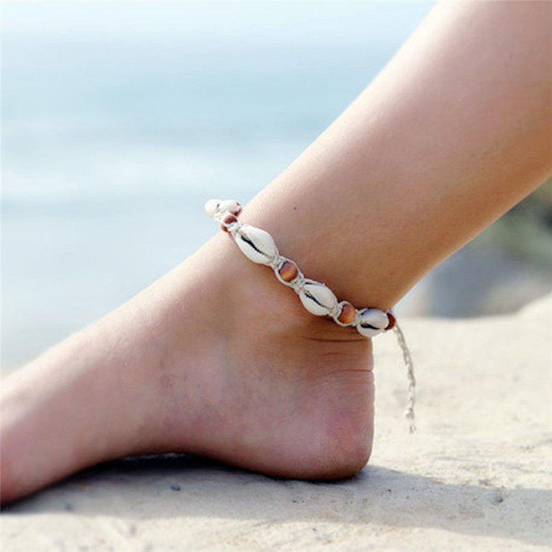 Bohemian Charm Bracelet Nature Gem Stone Shell Bead Anklet For Women Fashion Jewelry Boho Bangles Holiday Accessories S3