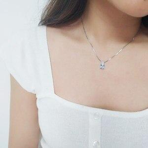 Image 4 - UMCHO colliers en argent Sterling 925, pendentifs élégants, bijoux en topaze bleu ciel, cadeau de mariage pour femmes, avec chaîne