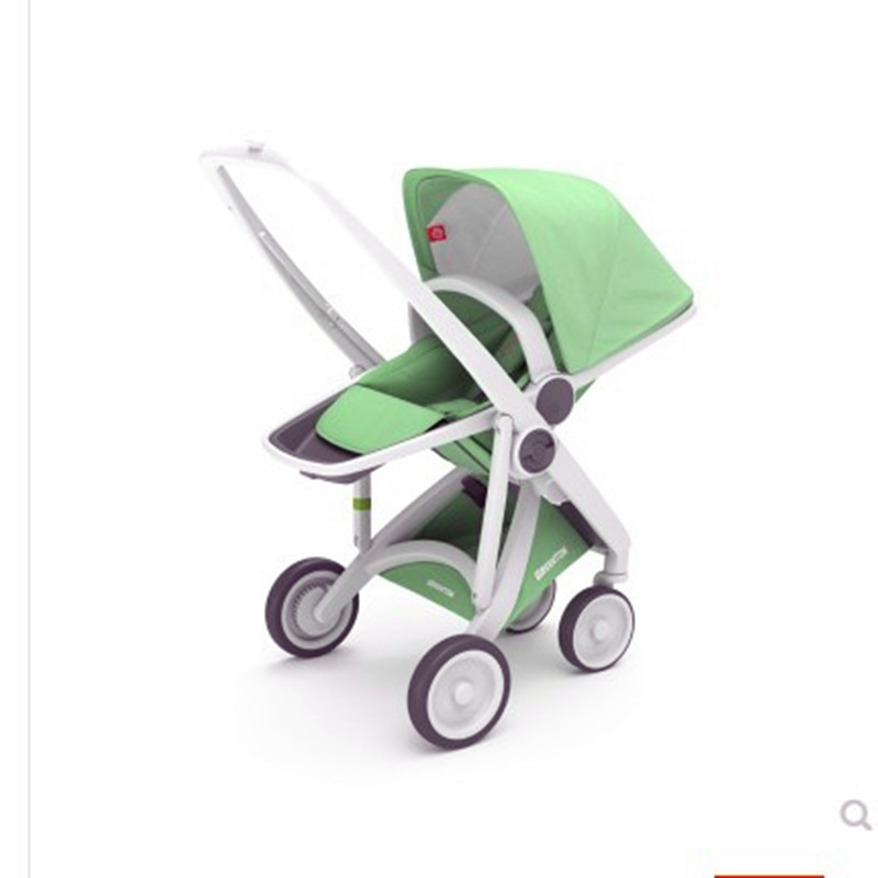 Baby stroller with high landscapes, light folding, seatable and reclining two-way baby strollerBaby stroller with high landscapes, light folding, seatable and reclining two-way baby stroller