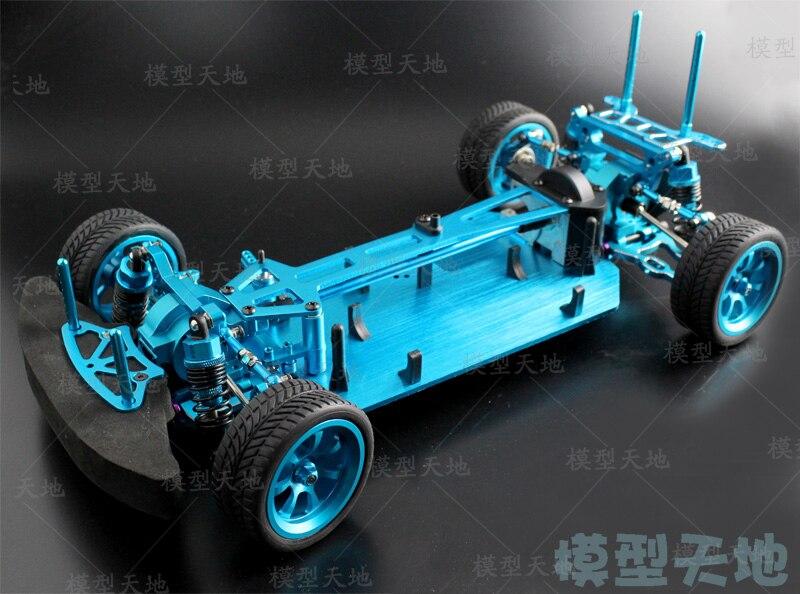 1/10 RC 4WD modèle jouets voiture sur route dérive voiture métal vide cadre sans brosse version illimitée HSP 94123 poisson volant
