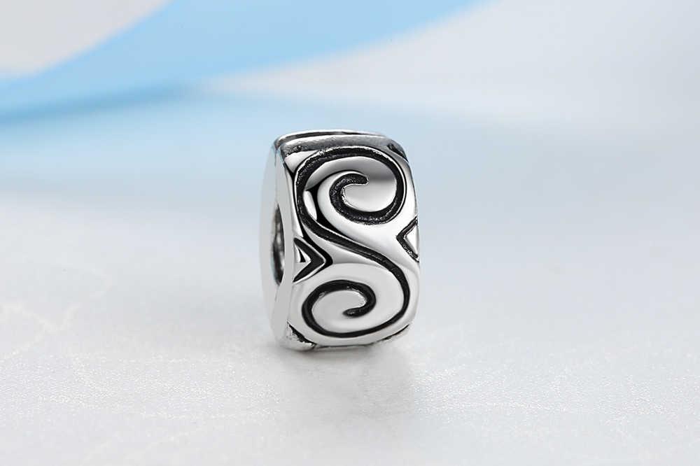 NBSAMENG envío gratis 1 pieza joyería de cuentas chapadas en plata encanto europeo Grande S tapón de cuentas ajuste pulseras y brazaletes YW15575