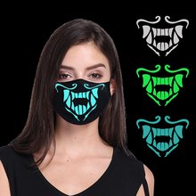 Kpop New Anime League Of K/da Kda Akali Assassin Cosplay Face Mask Night Lights Cosplay Props Masks Luminous Mouse Gifts(China)