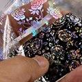 4*100 см/рулон 3D с голографической отделкой розовыми цветами лазерный фольгированные наклейки для маникюра Лак для ногтей для художественног...
